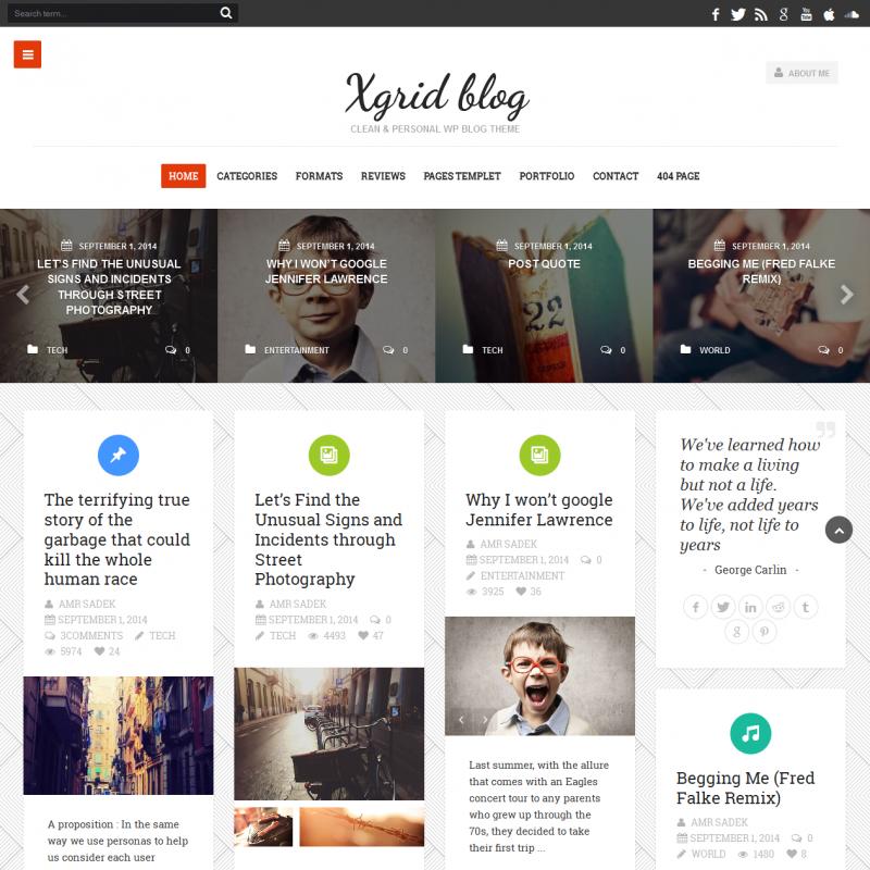 xGridBlog - Blog & Magazine WordPress Theme — WP Style
