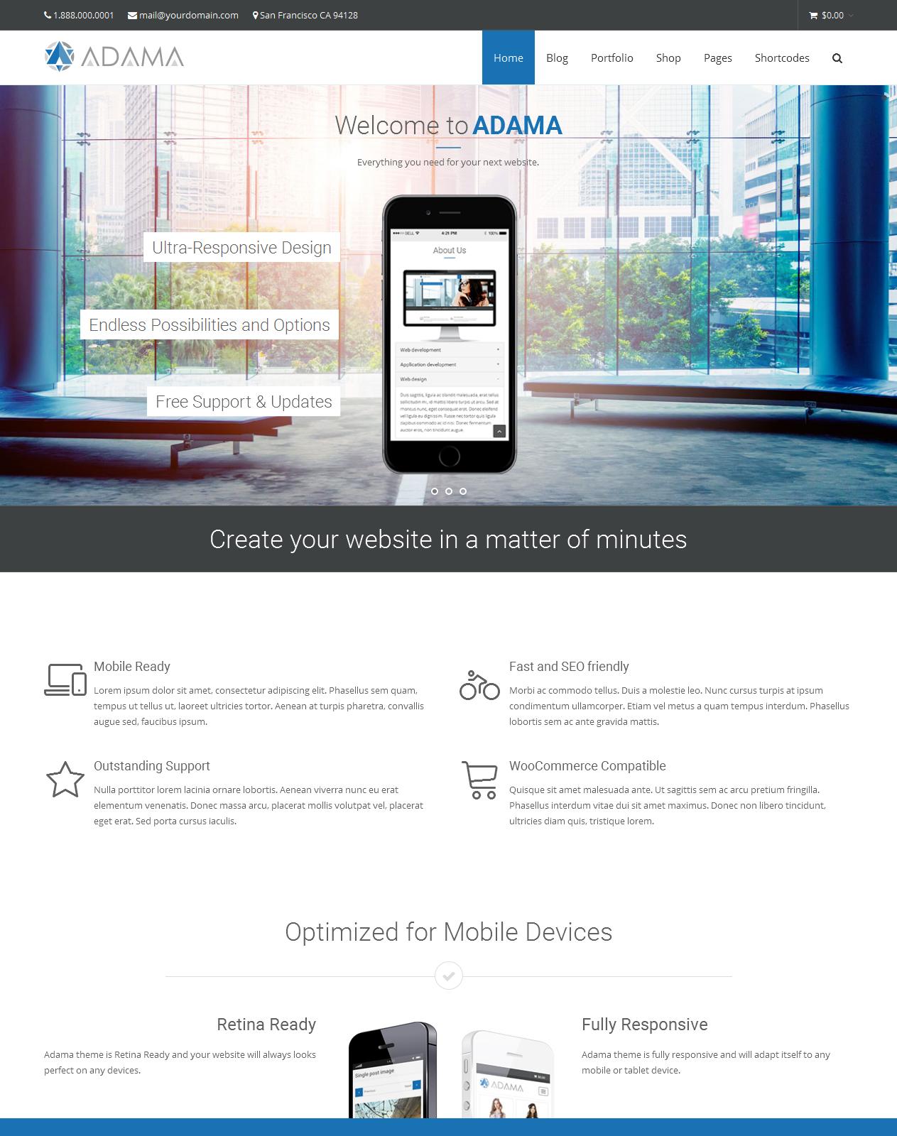 Adama - Premium Multi-purpose WordPress Theme – WP.Style