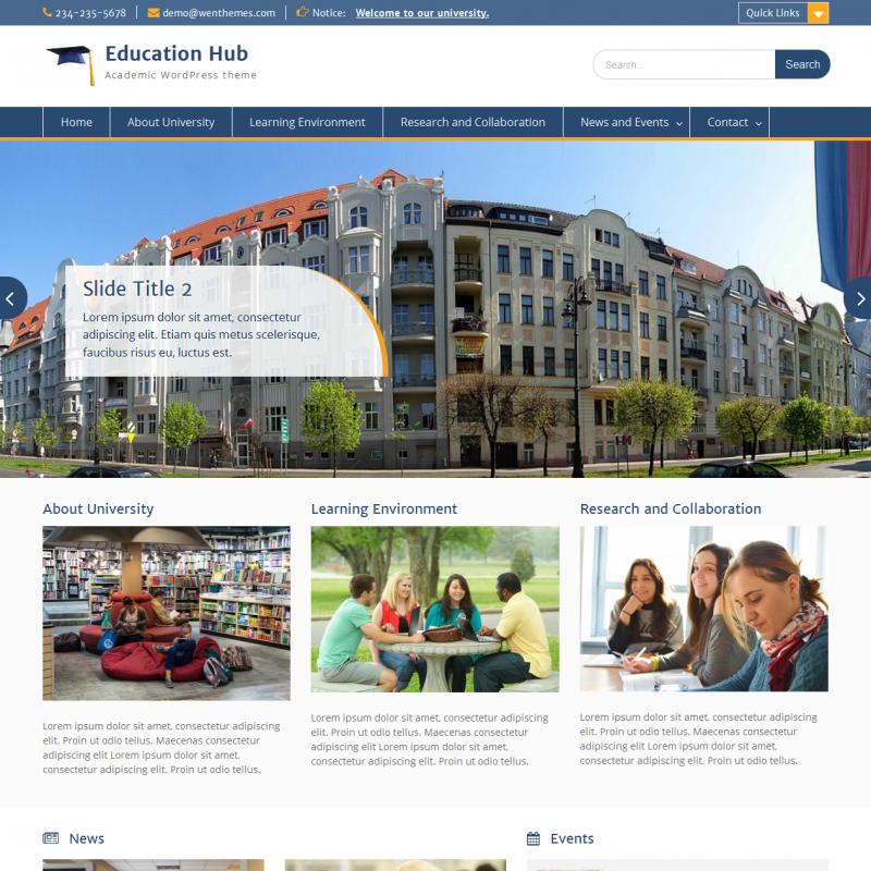 Education Hub – Free School & University WordPress Theme